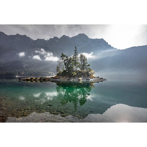 Fototapetai Salelė kalno ežere