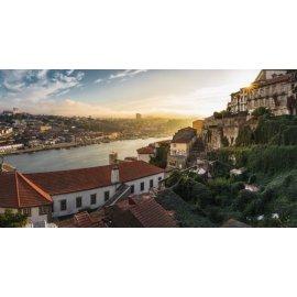 Fototapetai Upės miesto peizažas