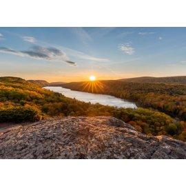 Fototapetai Peizažas nuo kalno viršaus