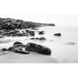 Fototapetai Juodai balta pakrantės nuotrauka
