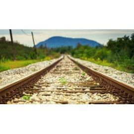 Fototapetai Surūdiję traukinio bėgiai