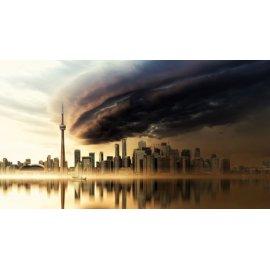 Fototapetai Griaustinio debesys virš miesto