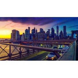 Fototapetai Miesto panoraminis vaizdas nuo tilto