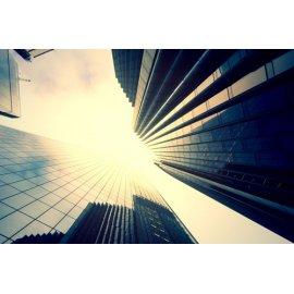 Fototapetai Stiklinio dangoraižio architektūra