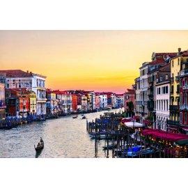 Fototapetai Miesto upės kanalas ryto saulėtekio metu, Grand Canal, Italija
