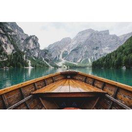 Fototapetai Kalnų vaizdas iš valties