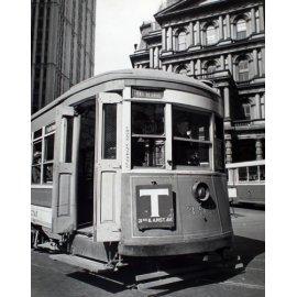Fototapetai Senovinė tramvajaus nuotrauka